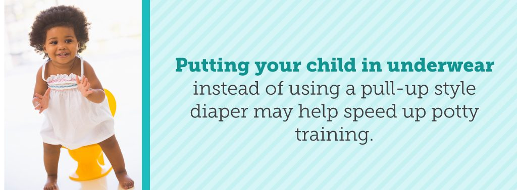 Underwear can encourage potty training