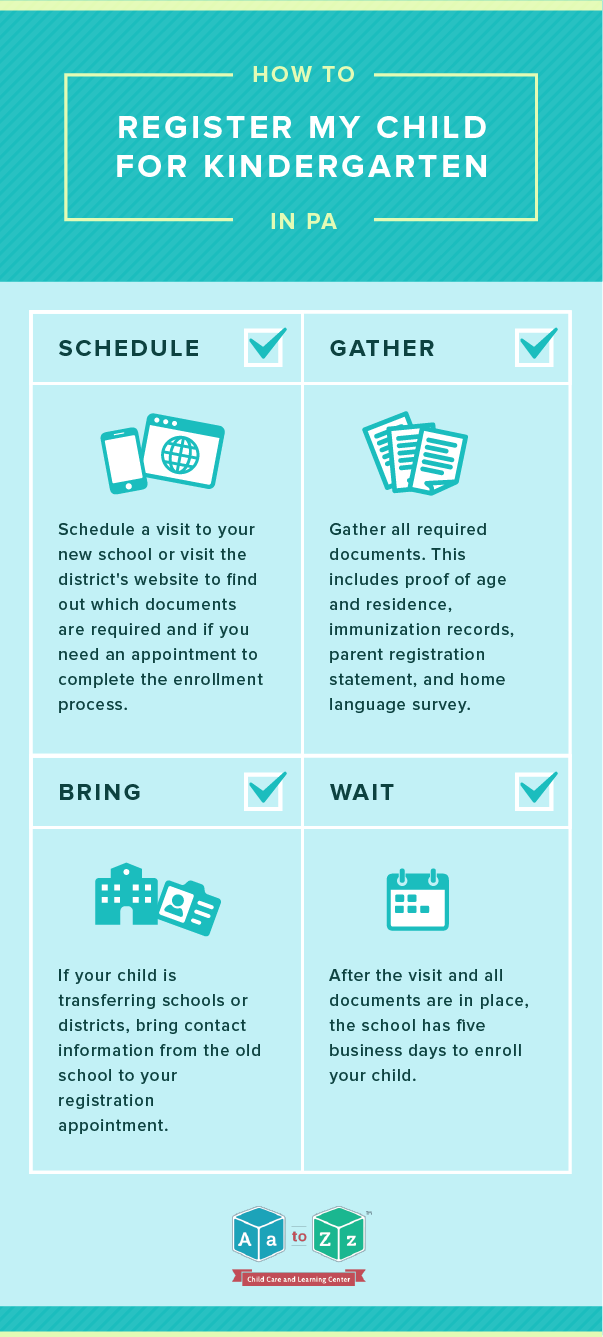 How to Register My Child for Kindergarten in PA - Aa to Zz